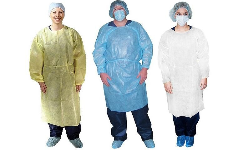 Isolation gowns for nursing home infection quarantine